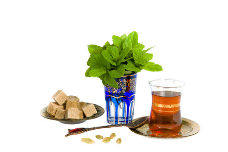 Mint tea is a traditional drink of Arab culture