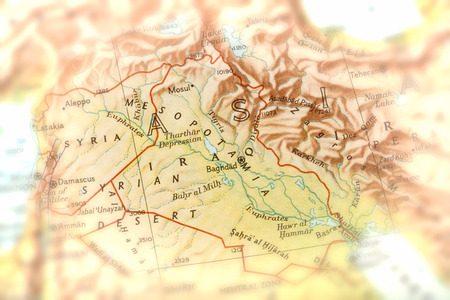 Traveler focused on Mesopotamia - preparation for the journey