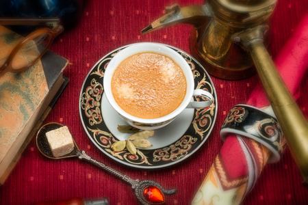 cardamon: Arabian coffee with cardamon seeds - traditional coffee