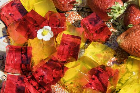 friut: Friut jelly is traditional arabian sweet dessert