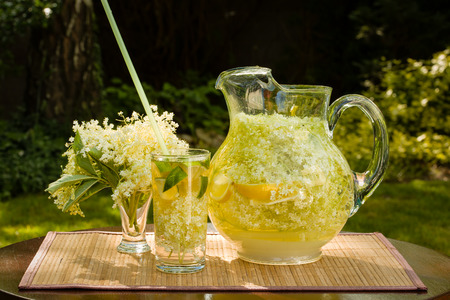 Elder lemonade - healthy and refreshing summer drink photo
