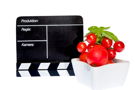 filmmaker: Tomatoes Story - tomatoes and filmmaker flap on stage