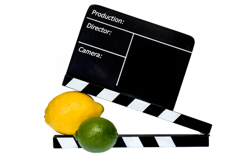 flap: Citrus Story - Lemon, lime and film flap on stage