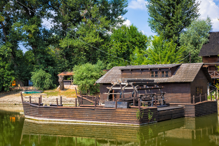 watermill: Watermill on Small Danube near the village Kolarovo, Slovakia, Europe