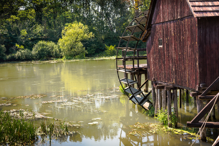 watermill: Watermill on Small Danube near the village Tomasikovo, Slovakia, Europe Stock Photo