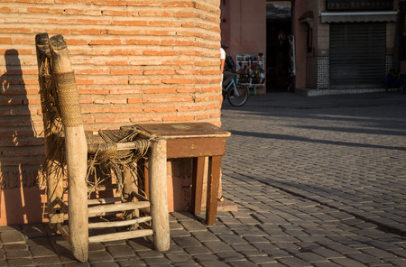 nook: Nook with seating abandoned in the Marrakech Medina