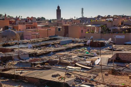 medina: One ugly part of the roofs Souk Marrakesh Medina