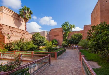 treasury: Garden of ancient treasury in the Marrakech Medina, Morocco Stock Photo