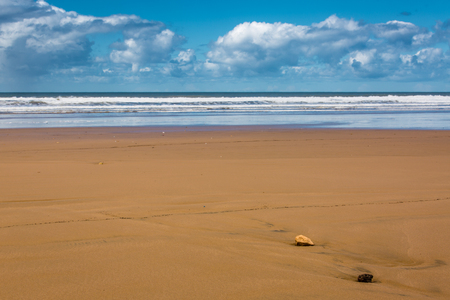 ourdoor: Atlantic coast near Essaouira, Morocco. Very popular place of surfers and lovers of water sports.