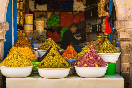 ESSAOUIRA, Morocco - 03 November 2015: View from the market of Medina in Essaouira
