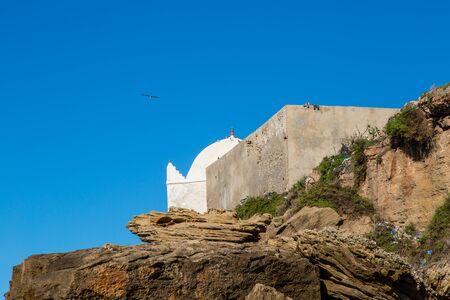 ourdoor: A village on the Atlantic coast Moulay Bouzarqtoune, Morocco. Stock Photo