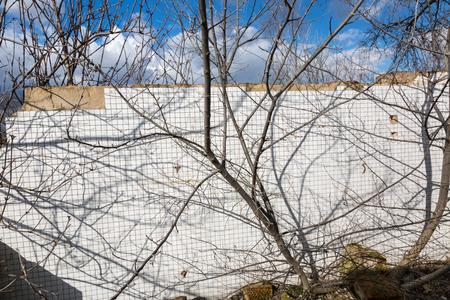 demolished house: Bathroom wall tiles texture of old demolished house