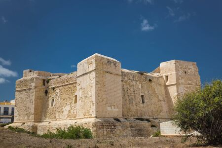 watchtower: Watchtower on the coast of the island Malta in Marsascala. Stock Photo
