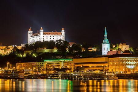 presidency: Evening view of Bratislava, the capital city of Slovakia. Presidency of the Council of the European Union - Slovakia (Jul–Dec 2016) Editorial