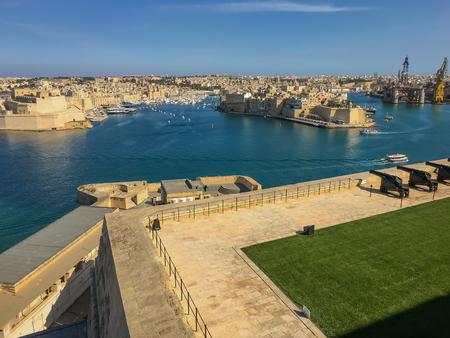 saluting: The Saluting Battery in Valletta, Malta