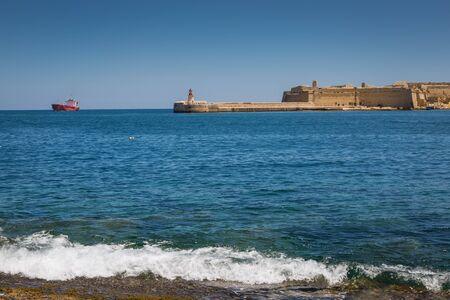 breakwater: Ricasoli East Breakwater in Valletta