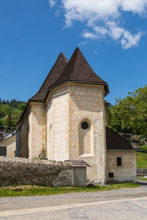 snows: Church of the Virgin Mary of the Snows in the historic mining town of Banska Stiavnica, Slovakia