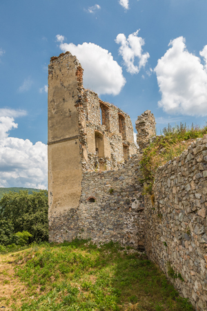 Apponyi castle ruins from the 13th century. Oponice, Slovakia
