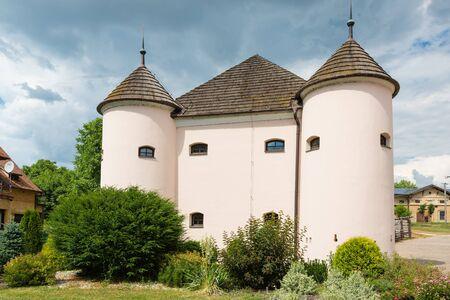 stronghold: Renaissance residence - stronghold in Klatova Nova Ves, Slovakia Stock Photo