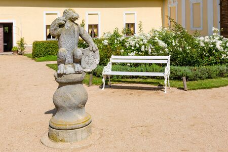 Architectural detail of the park chateau Milotice in Moravia, Czech Republic