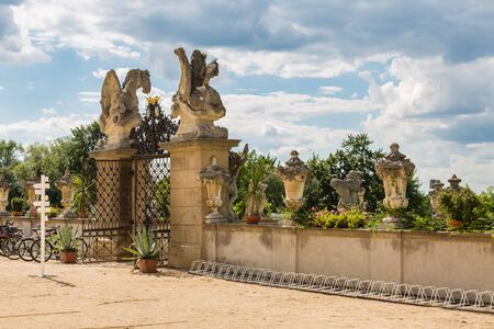 moravia: Architectural detail of the park chateau Milotice in Moravia, Czech Republic