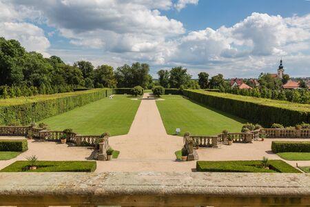 chateau: Baroque park the chateau Milotice in Moravia, Czech republic