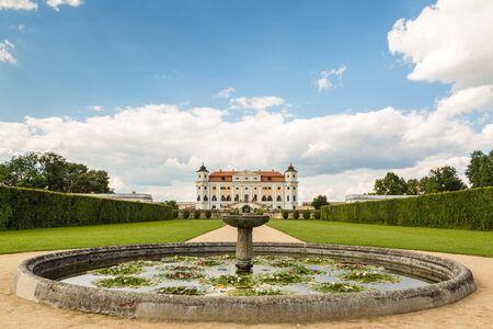 Baroque park the chateau Milotice in Moravia, Czech republic