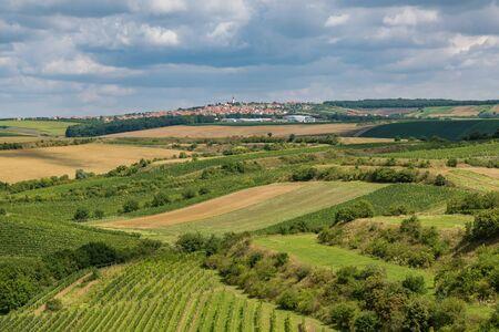 View of the village Boretice of lookout point Hradistek, Moravia, Czech Republic