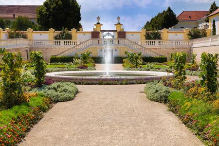 adjacent: Orangery with adjacent greenhouse at castle Schloss Hof, Lower Austria