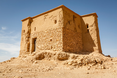 conserved: Conserved part of the Ksar Ait Ben Haddou in Morocco.