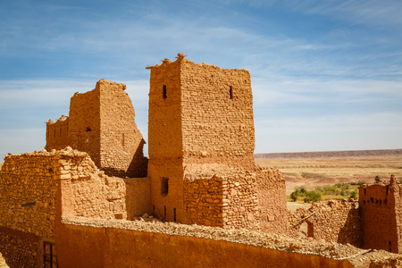 Conserved part of the Ksar Ait Ben Haddou in Morocco.