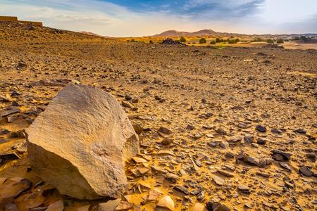 reg: Reg desert Sahara in southwestern Morocco