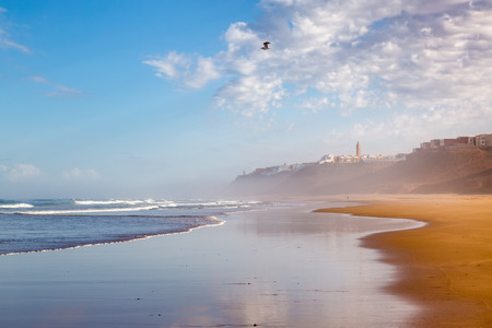 Early in the morning after rain on the coast of Sidi Ifni, southwestern Morocco, Atlantic ocean
