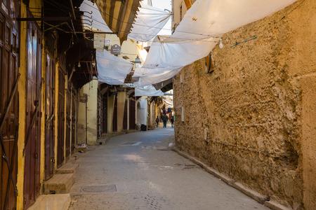 fes: Ancient streets of Fes Medina, Morocco