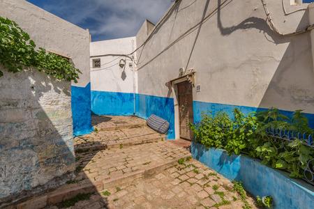 Magnificent ancient narrow aisles in Medina Rabat, Morocco Stock Photo