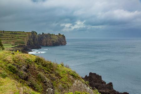 North coast of Sao Miguel Island, Atlantic Ocean. The island of Sao Miguel is part of the Azores archipelago, Portugal.