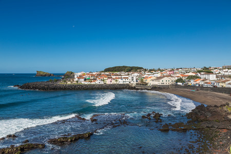 Coast Sao Rogue on Sao Miguel island, Azores archipelago in the Atlantic Ocean belonging to Portugal Stock Photo