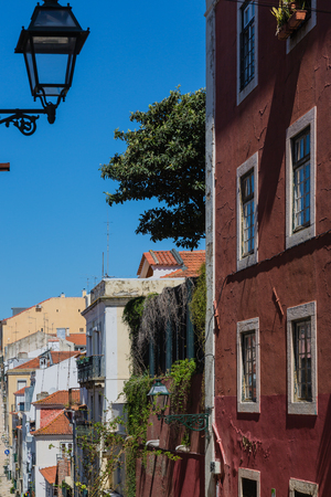Fragments from the streets of Old Lisbon, Portugal. Lisbon is colorful, friendly and very attractive.