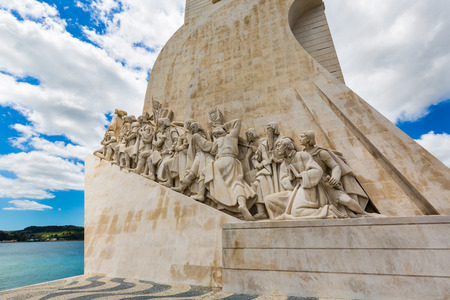 salazar: Lisbon, Portugal - May 18, 2017: The Monument to the Discoveries in the Belem neighborhood on the river Tagus, Lisbon Editorial