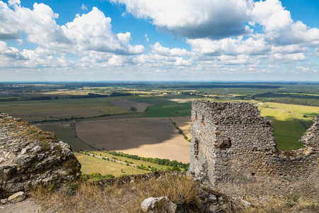 Ruins of medieval castle Plavecky hrad. Slovakia, Central Europe. Stock Photo