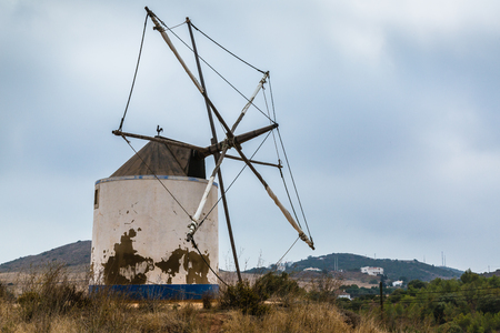 turismo ecologico: Traditional windmill in Budens, southwestern coast of Portugal