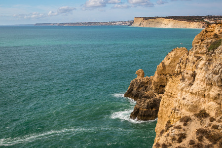 Ponte da Piedade in the Cliffs in Lagos National Park. A very famous coastal rock formations with caves.