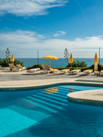 Carvoeiro holiday resort on the southern Portuguese coast of the Atlantic.