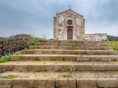 The Church of St. Barbara in Argentiera, Sardinia island, Italy Standard-Bild