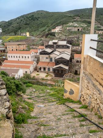 The former mining town of Argentiera, Sardinia island, Italy