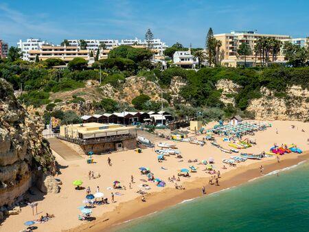 Armacao de Pera, Portugal - Jun 14, 2018: Beach near Armacao de Pera, Algarve, Portugal