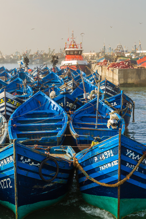 Morning in the old fishing port of Essaouira, Morroco