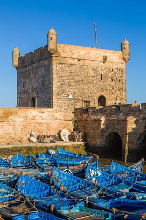 Early morning in the old fishing port of Essaouira, Morocco 版權商用圖片