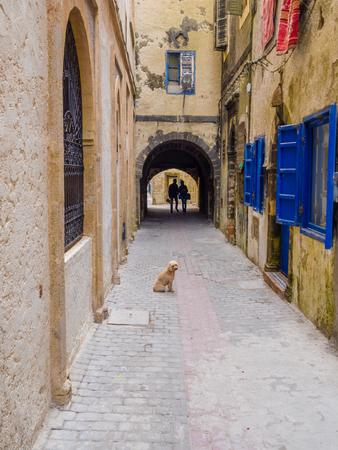 Fragments from the alleys of the medina in Essaouira, Morocco Foto de archivo