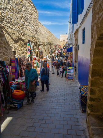 Essaouira, Morocco - October 31, 2018: From the ancient alleys of Essaouira Medina